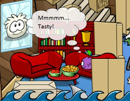 Don't eat my chips puffle!