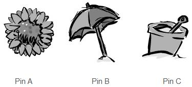 pin selection